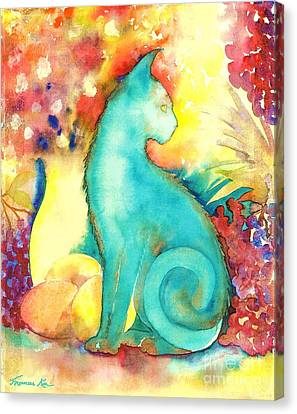 Blue Damsel Canvas Print