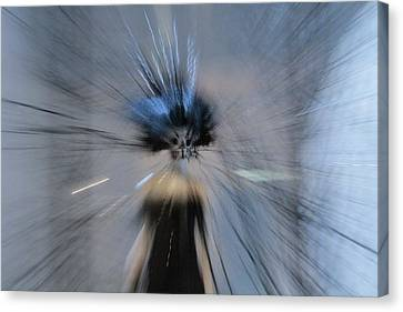 Canvas Print featuring the digital art Blue by Danica Radman