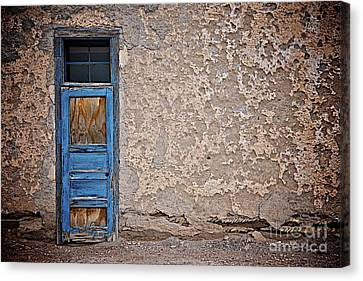 Canvas Print featuring the photograph Blue Door by Sherry Davis