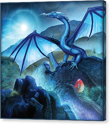 Blue Dragon Canvas Print by Bryan Dechter