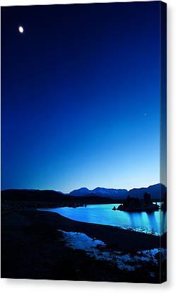 Blue Dusk Mono Lake Canvas Print by Sylvia J Zarco