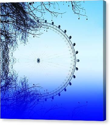 Blue Eye Canvas Print by Sharon Lisa Clarke