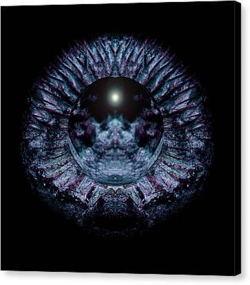 Blue Eye Sphere Canvas Print by David Kleinsasser