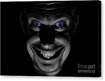 Blue Eyed Demon Canvas Print by Guy Viner