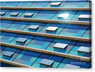 Blue Facade Canvas Print by Carlos Caetano