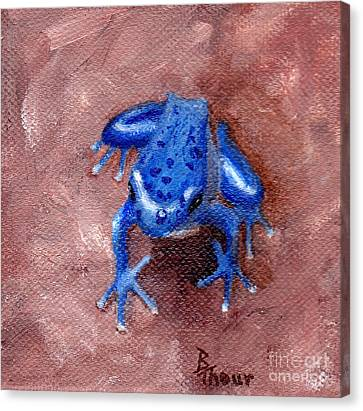 Blue Froggy Canvas Print by Brenda Thour