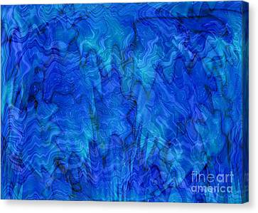 Blue Glass - Abstract Art Canvas Print by Carol Groenen