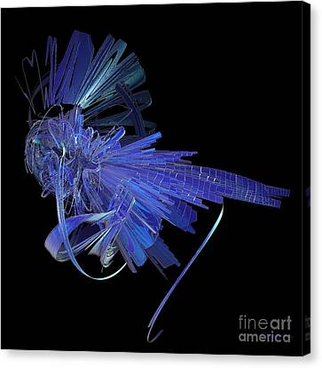 Blue Glass Hopper Canvas Print