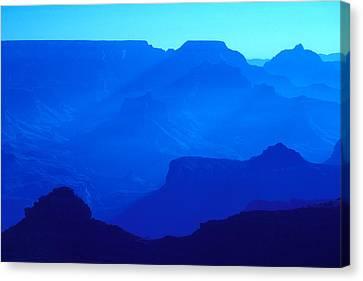 Blue Grand Canyon Canvas Print
