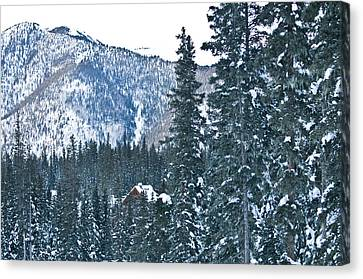 Blue Green Mountain Canvas Print