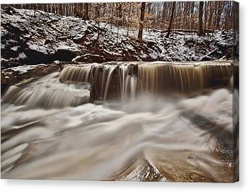 Blue Hen Falls Cascade Canvas Print by Jennifer Grover