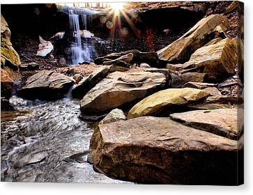 Canvas Print featuring the photograph Blue Hen Falls by Michelle Joseph-Long