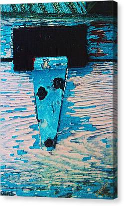 Blue Hinge Canvas Print