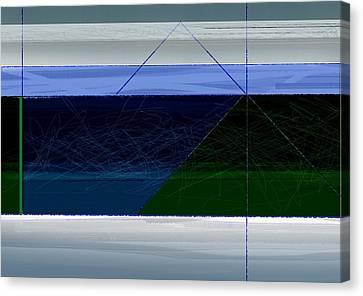 Blue Horizon Canvas Print by Naxart Studio