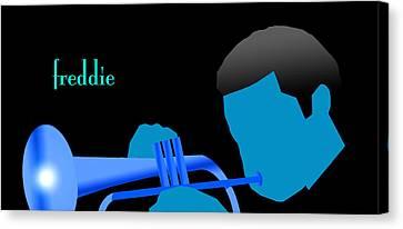 Canvas Print - Blue Hub by Victor Bailey