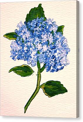 Blue Hydrangea Canvas Print by Leea Baltes