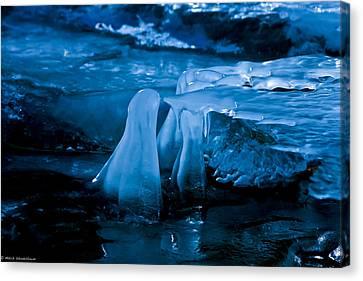 Blue Ice Canvas Print by Mitch Shindelbower