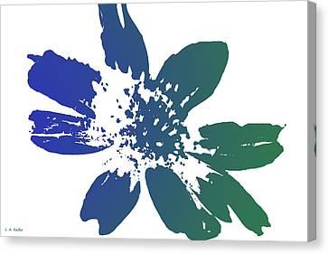 Blue In Bloom Canvas Print by Lauren Radke