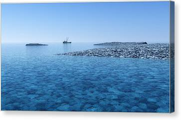 Canvas Print featuring the digital art Blue Infinity... by Tim Fillingim