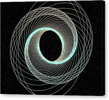 Blue Inner Circle Canvas Print by James Steele