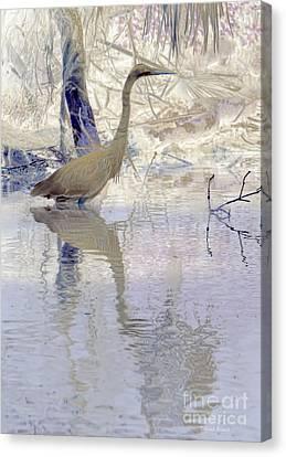 Blue Inverted Canvas Print by Deborah Benoit