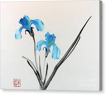 Blue Iris I Canvas Print by Yolanda Koh