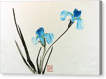 blue iris II Canvas Print by Yolanda Koh
