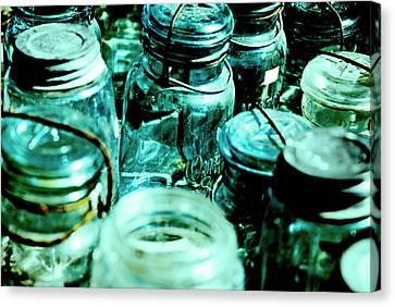 Blue Jars I Canvas Print by Laurianna Murray