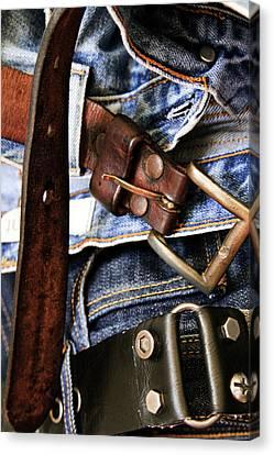 Blue Jeans Canvas Print by Stelios Kleanthous