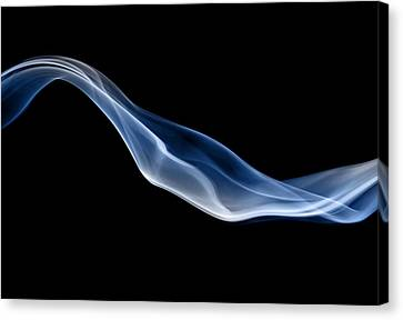 Blue Jet Of Smoke Canvas Print