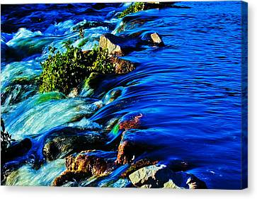 Rapids Canvas Print - Blue by Joshua Dwyer