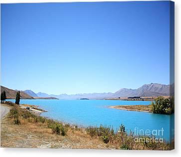 Beautiful Creek Canvas Print - Blue Lake  by Pixel Chimp