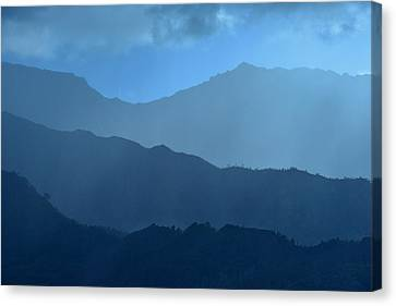 Blue Layers Canvas Print by Hegde Photos
