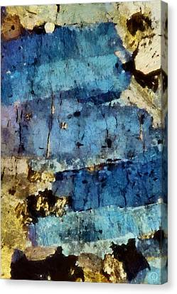 Blue Layers Of The Mind Canvas Print by Gun Legler