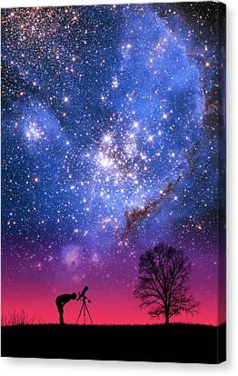 Blue Magellanic Cloud Canvas Print