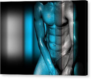 Bombelkie Canvas Print - Blue Man by Mark Ashkenazi