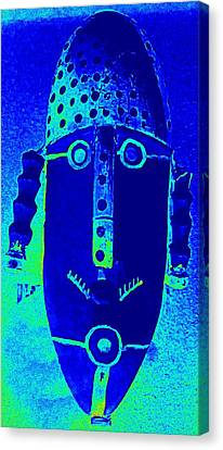 Blue Man Ungrouped Canvas Print by Randall Weidner
