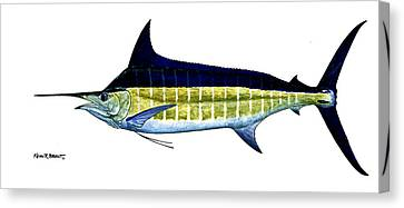 Blue Marlin Canvas Print by Kevin Brant