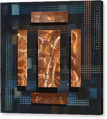 Blue Metal 4 Canvas Print by James Johnson