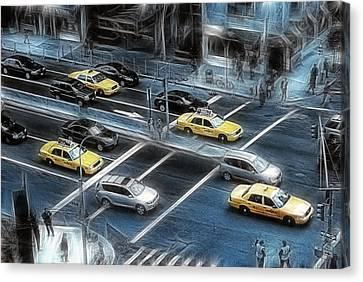 Blue Monday Canvas Print by Joachim G Pinkawa