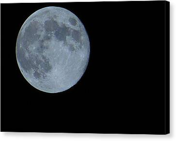 Blue Moon 8 31 12 Canvas Print by Warren Thompson