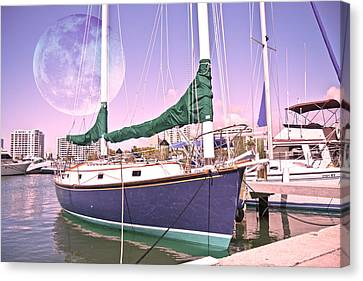 Blue Moon Harbor II Canvas Print