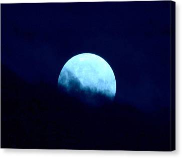 Blue Moon Canvas Print by Joyce Woodhouse