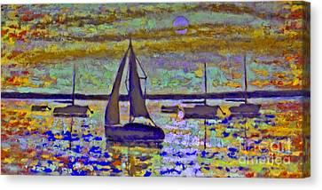 Blue Moon Canvas Print by Kip Decker