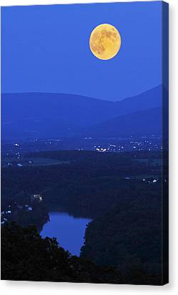 Blue Moon Canvas Print by Lara Ellis