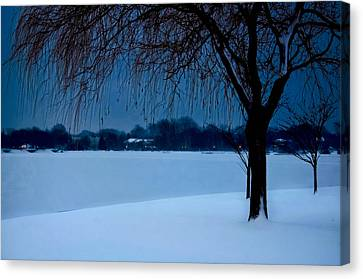 Blue Morning At Argyle Canvas Print by Vicki Jauron