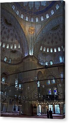 Blue Mosque Interior Canvas Print by Cheri Randolph