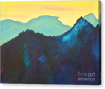 Blue Mountain Canvas Print by Silvie Kendall