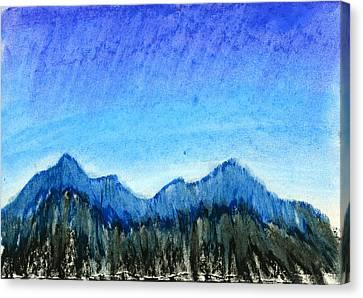 Blue Mountains Canvas Print by Hakon Soreide
