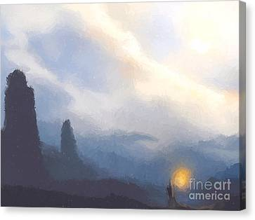 Blue Mountains  Canvas Print by Pixel  Chimp